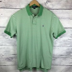 Polo Ralph Lauren Large Green White Striped Purple
